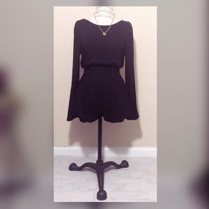Forever21 Romper with Pleats and Plunge
